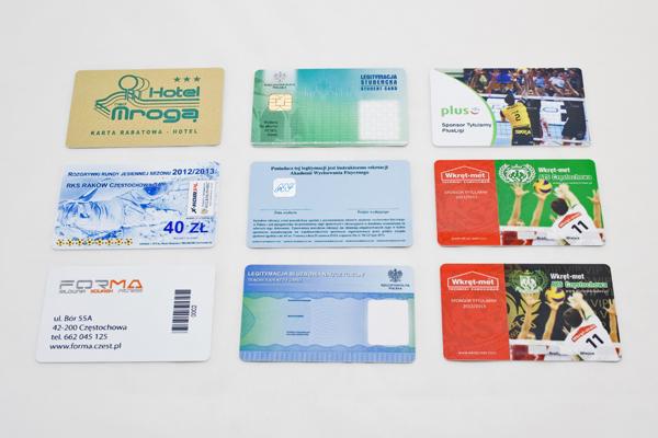 inne karty plastikowe